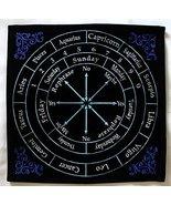 Kheops Pendulum Mat Astrology Zodiac (Black with Colors) - $21.51