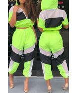 Trendy Patchwork Two-piece Pants Set - $31.62