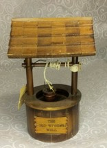 VINTAGE WOODEN WISHING WELL MUSIC BOX COLLECTIBLE - $19.80