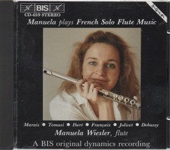 manuela wiesler, french solo flute music, 1989 cd-459 stereo classical - $3.99