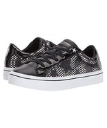 Skechers Hi Lite Silver MIrror Diamond & Studded Stars Black Sneakers Wm... - $59.99