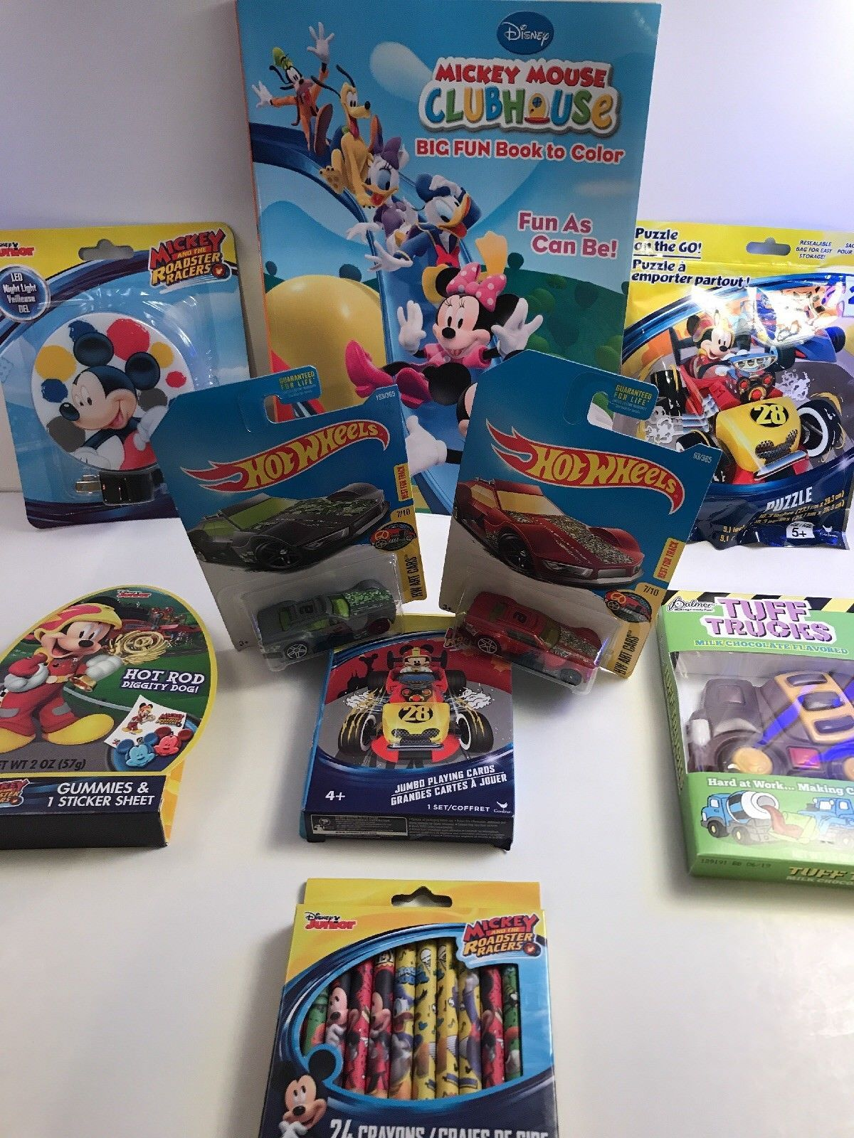 Mickey Mouse and the Roadster Racers Pre-Made & Pre-Filled Gift Basket  - $29.58