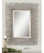 "CONTEMPORARY DESIGNER 44"" FORGED METAL RECTANGULAR BEVELED WALL VANITY M... - $543.40"