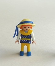 Playmobil Figure Victorian Dollhouse Girl Child Straw Hat Ribbon Special... - $9.99