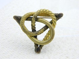 Antique Victorian Gold Filled Triangle Love Knot Pin Brooch - $29.70