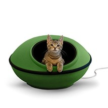 """K&H Pet Products Thermo-Mod Dream Pod Heated Pet Bed Green/Black 22"""" 4W - $63.89"""