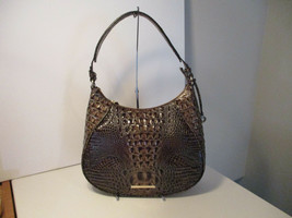 Authentic Brahmin Amira Chicory Melbourne Shoulder Bag Embossed Leather NWT - $212.84