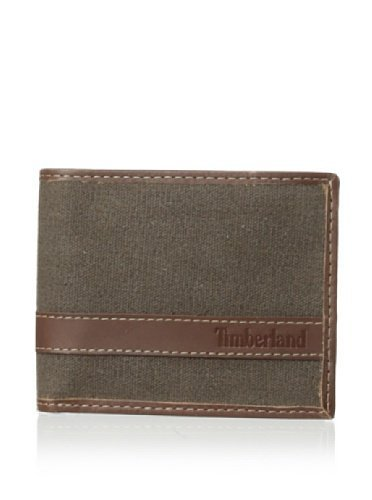 Timberland Men's Canvs Hunter Passcase Dark Brown Wallet