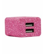 DCI Dual USB Pink Sparkle Adapter - New - $10.99