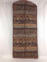 Hanging Zip Up Garment Bag Tribal Leopard Zebra Design Brown Black Beige - $48.99