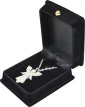 "Silver Angel Pendant w/20"" chain & black velvet display box - $149.99"