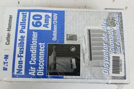 2 Eaton Cutler-Hammer DPU222RP Non-fusible Pullout Air conditioner Disconnect  image 3