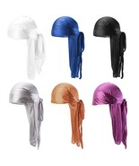 Ztl Unisex Silky Durag Long-Tail Du-Rag Headwrap with Wide Straps for 36... - $20.22
