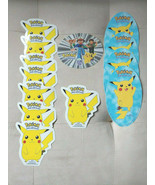 NINTENDO POKEMON 1999 VINTAGE VINYL STICKERS 13 PACK RARE FIND PIKACHU - $15.63