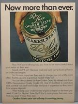 Vintage Rivista ad Stampa Design Pubblicità Quaker Stato Deluxe Olio Motore - $28.20