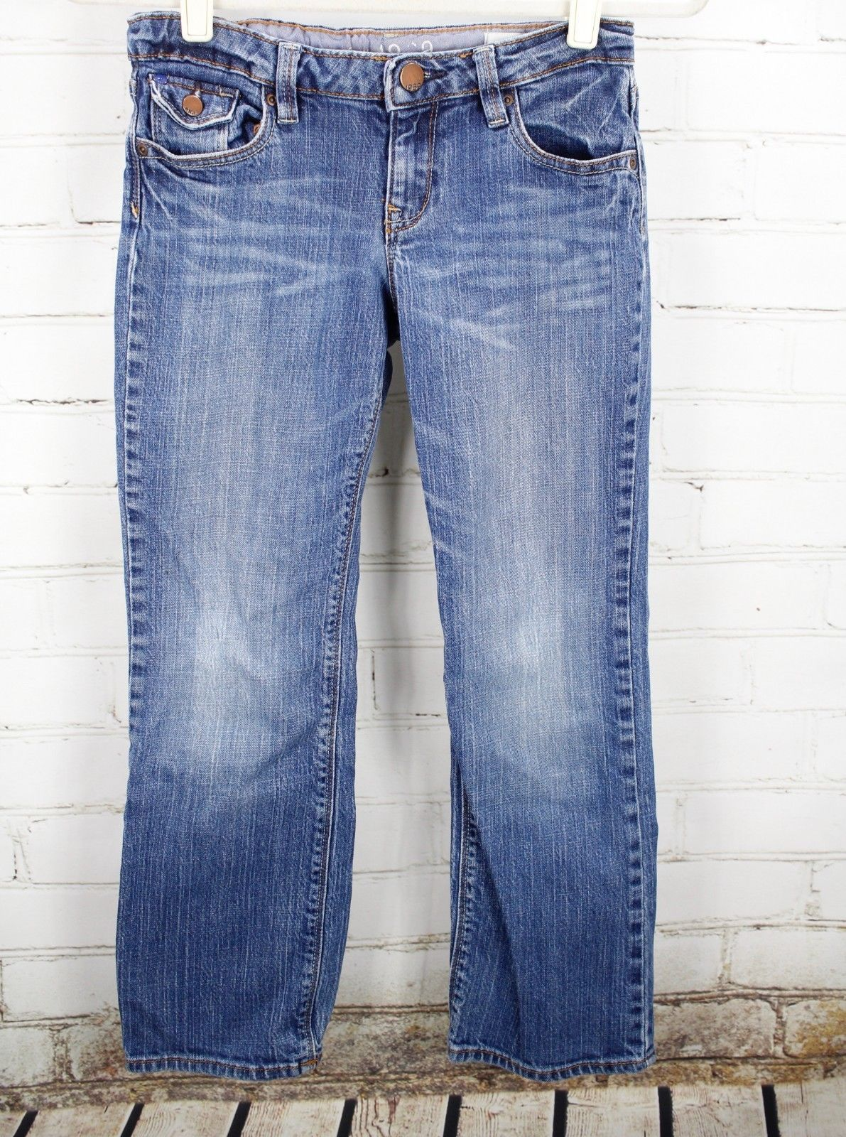 Gap Kids Straight Leg Jeans 1969 Boys Size 10 Plus Medium Wash Cotton Stretch