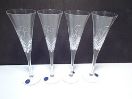 4 Gorgeous Thomas James Champagne Toasting Flutes ~ initials A.F.D. ~ or... - $34.95