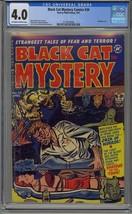 BLACK CAT MYSTERY COMICS #34 CGC 4.0 HARVEY COMICS BONDAGE HORROR COVER - $270.89