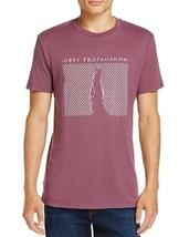 Nuovo da Uomo Obey Dusty Melanzana Propaganda Rete T-Shirt con Stampa Taglia M - $20.99