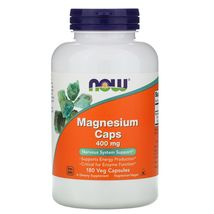 Now Foods Magnesium Caps 400 mg, 180 Veg Capsules - $19.99