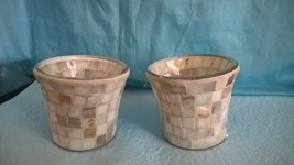 Pair of Yankee Candle Mosaic Glass Votive Holders  - $24.74