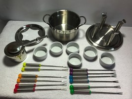 FARBERWARE Pro Commercial 21 Piece Stainless Steel Fondue Set - $19.95