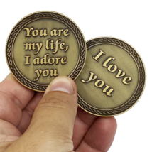 """YOU ARE MY LIFE I ADORE YOU I LOVE YOU  2"""" CHALLENGE COIN - $37.99"""