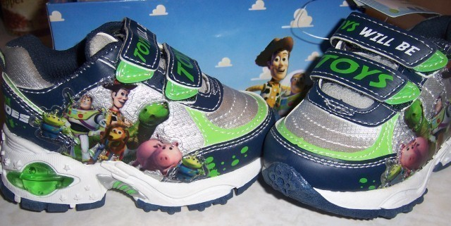Toy Story Boots For Boys : Disney toy story toddler boys shoes lights up sz d fit