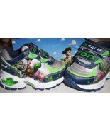 Disney Toy Story Toddler Boys Shoes Lights Up Sz 5 D-Fit Woody Buzz Rex NEW - $18.00