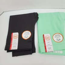 Lot of 2 Wonder Nation Girl's Size XS (4-5) Black Green Stretch Capri Pa... - $12.99