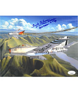 "Frederick ""Boots"" Blesse signed Korean War Double Ace Pilot 8x10 Photo 1... - $74.95"