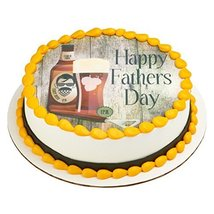 """Beard and Hops Father's Day Edible Frosting Image 8"""" Round Cake Topper - $9.99"""
