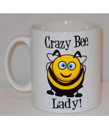 Crazy Bee Lady Mug Can Personalise Funny Animal Lover Keeper Keeping Gif... - $9.23