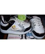 Jonas Brothers Girls Athletic Shoe SZ 12 NEW Disney Black White Gold Sil... - $14.00