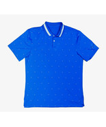 Nike Dri-Fit Vapor Print Golf Polo Photo Blue BQ6856 Medium  - $47.49