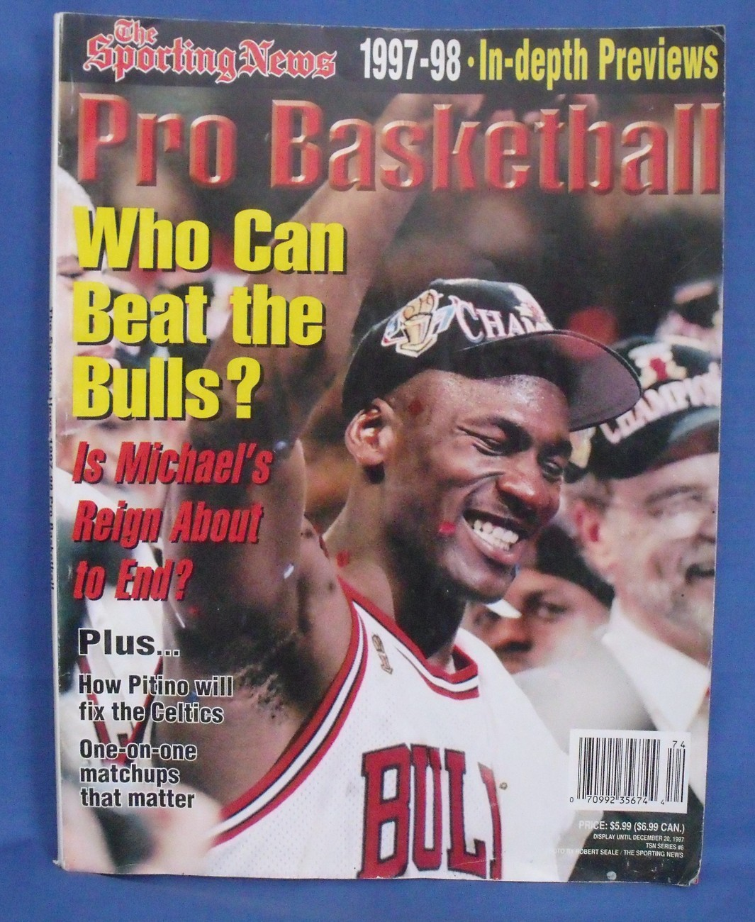 Primary image for The Sporting News Pro Basketball 1997 1998 In Depth Previews Magazine