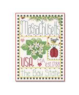 Massachusetts Little State Sampler cross stitch chart Alma Lynne Originals - $6.50