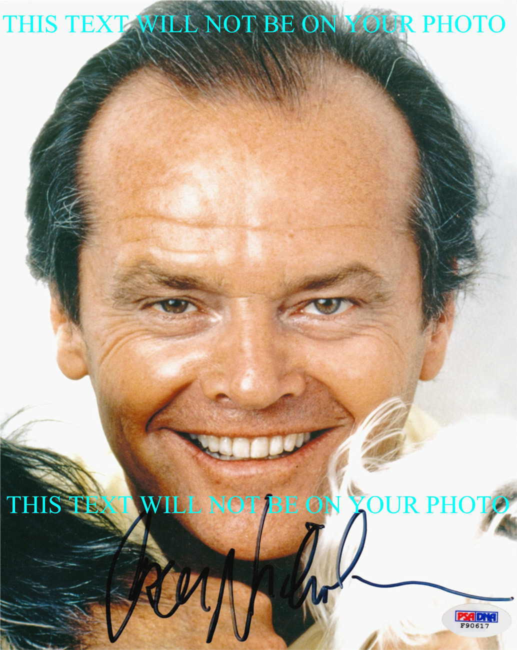 Primary image for JACK NICHOLSON AUTOGRAPHED 8x10 RP PHOTO CLOSE UP GREAT SMILE THAT LOOK