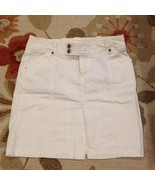 American Eagle White Twill Skirt Size 2 Pre-owned - $6.99