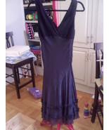 Vintage BCBG Black Chiffon V Neck Dress Size 6 ... - $24.99