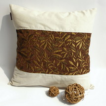 [Autumn Leaves] Linen Pillow Cushion - $19.99