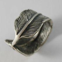 925 Silber Ring Brüniert Bandeau in Form von Daunen Made in Italy image 4