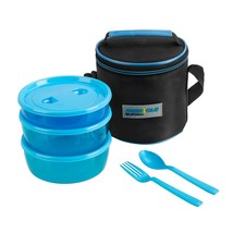 Pride Set of 3 Plastic Lunch Containers with Carrying Bag Fork Spoon - $9.99
