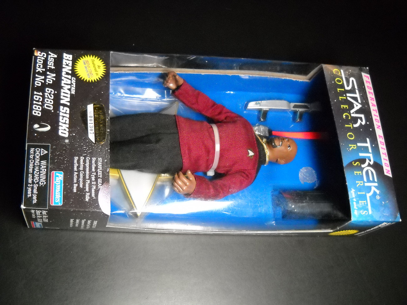 Toy star trek playmates federation edition captain benjamin sisko 9 inch 1997 boxed sealed 01