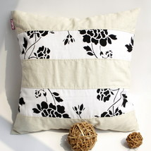 [Flowing Flowers] Linen Pillow Cushion - $19.99