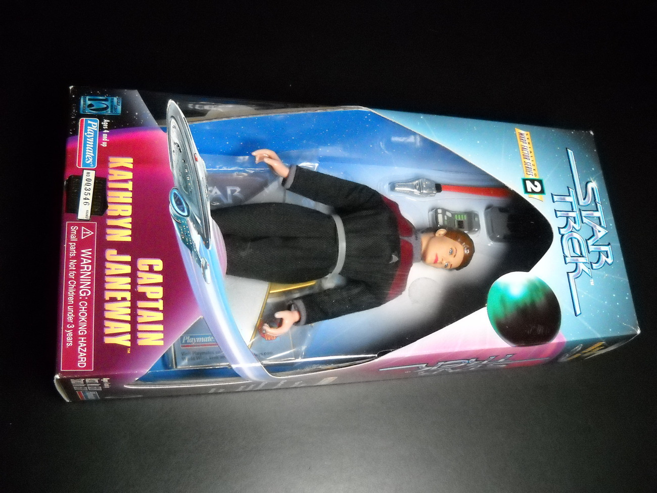 Toy star trek playmates warp factor series two captain kathryn janeway 1997 9 inch boxed sealed 01