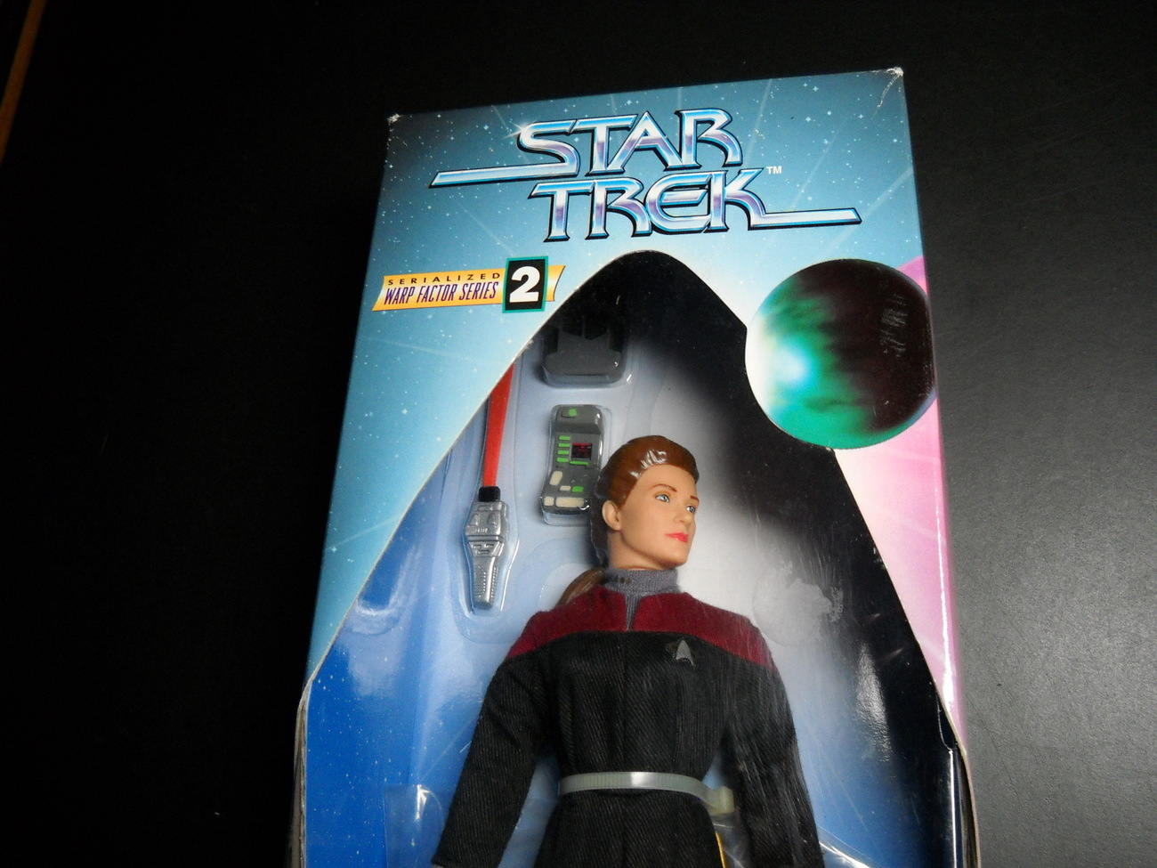 Star Trek Warp Factor Two Captain Kathryn Janeway Voyager Playmates Sealed Box