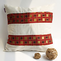 [Passion Red Valley] Linen Pillow Cushion - $19.99