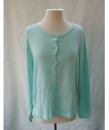 Charlie Paige Mint Green  Button-Up Long-Sleeve Knit Cardigan Women's L/... - $29.70