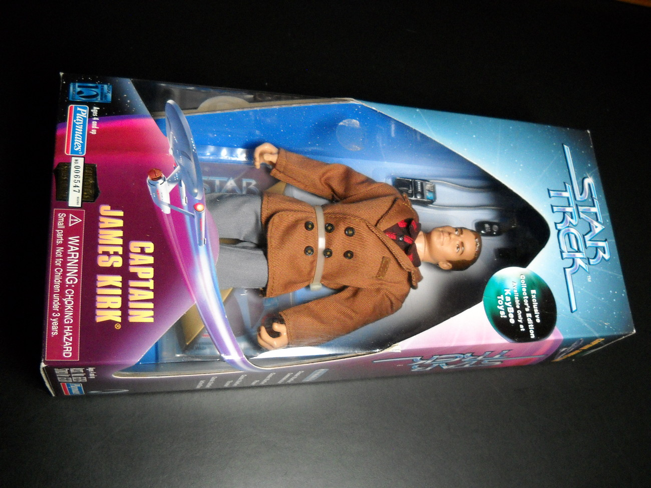 Toy star trek playmates kaybee toy exclusive captain james t kirk coteof 1997 9 inch boxed sealed 01